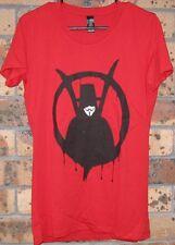 New Ladies V For Vendetta Wachowski Movie Classic Red Cotton T Shirt