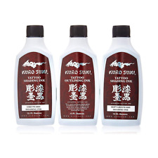 Kuro Sumi Grey Wash Tattoo Ink Set 12oz - Greywash Shading + Lining Inks (x3)
