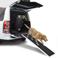 7ft Portable Aluminum Folding Pet Dog Ramp Ladder Truck Car SUV Van Stair Handle