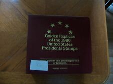 GOLD REPLICA US of the 1986 United States Presidents Stamp 36 first day covers