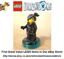 LEGO Dimensions WildStyle Game Tag & Minifigure Split; The LEGO Movie: WyldStyle