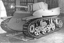 1930s-40s (6 x 4) Repro US RP- Panzer- Inflatable Rubber Tank M5 Stuart- Decoy