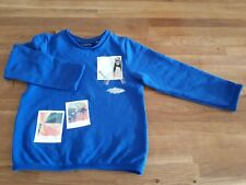 Kinder Pullover Gr. 104/110 blau Tom Tailor