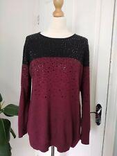 Clements ribeiro black cashmere mix jumper embellished studded XL 16 42