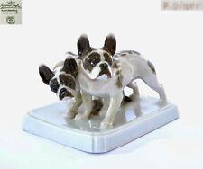 Vintage German Rosenthal Porcelain Bulldog Figurine By F. Diller Marked