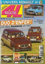 4L MAGAZINE 32 RENAULT 4 PARISIENNE 1967 R4 GTL RENAULT RODEO 4 R4 EXPORT