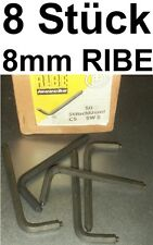 8 x CHIAVE PIN 8mm RIBE DIN 6911 INBUS RUBINETTO CHIAVE A BUSSOLA