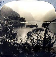Keystone Stereoview Milford Sound, West Coast, NEW ZEALAND from 1930's T600 Set