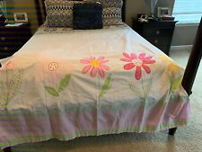 Pottery Barn Kids ~Flower Gingham Pink Fabric Shower Curtain