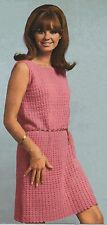 Crochet Pattern Lady's Sleeveless Dress/Tunic & Top/Sweater. 34 to 38 Inch Bust.