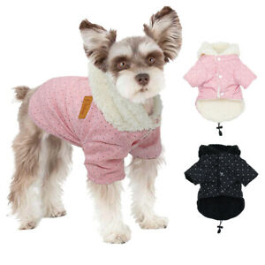Cute Small Dog Coat Warm Fleece Pet Puppy Jacket Hoodie with Hat Winter Clothes