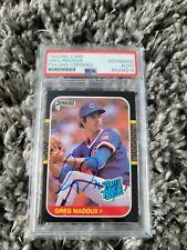 Greg Maddux Autographed Signed 1987 Donruss Rookie Card RC #36 Cubs PSA/DNA