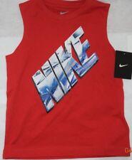 New Boy's Red Nike sleeveless T-shirt  Size 7