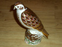 """ROYAL CROWN DERBY LTD ED=750, PAPERWEIGHT"""" BUZZARD, 1ST,Q, GOLD BUTTON, BOXED"""