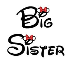 DISNEY MICKEY MOUSE VACATION******BIG SISTER***** T-SHIRT IRON ON TRANSFER