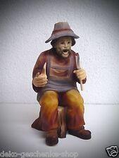tallada Figura Fumador con hacha 17cm de tocón de árbol Talla 15071