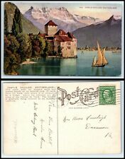 SWITZERLAND Postcard - Castle Chillon FW