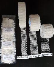 3 x 1 Meter Bratennetz, Rollbratennetz Kaliber 10+14+18 für Füllrohre bis 140mm