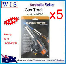 PK OF 5 Flamethrower Gas Torch Butane Burner Auto Ignition Camping Welding BBQ