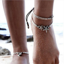 Summer Boho Starfish Anklet Vintage Ankle Bracelet Women Buddha Foot Jewelry NEW