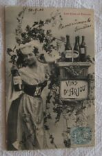 FRENCH WINE ANJOU PINEAU DOUX  POSTCARD 1904