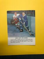 Toronto Maole Leafs Old Picture Card - Carl Brewer - 1963?