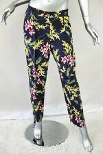 WHISTLES Womens Floral Pleated Silk Tapered Pants Slacks Trousers 8/12/40