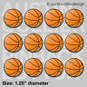 "(12) BASKETBALL 1.25"" pinback buttons / badges - team gift pins"