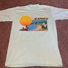 Vintage Acapulco Mexico Single Stitch Tshirt Teal Euc 80s 1980s See Measurements