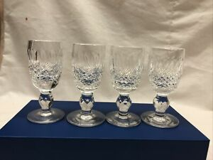 Signed WATERFORD Deep Cut Irish Crystal Colleen Short Stem Cordial Glasses 4 Pcs