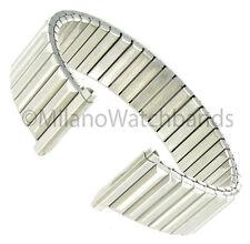 16-21mm Speidel Twist-O-Flex Shiny Silver Tone Stainless Watch Band 522/03 LONG