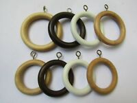 20 X WOODEN CURTAIN POLE RINGS ROD RINGS WITH EYELET