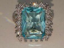 14 ctw Blue Topaz  Ring -  Size 8