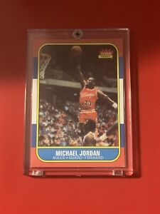1986 Fleer Basketball #57 Michael Jordan Rookie Card RC Bulls - Altered