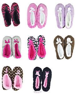 Skidders Women's Slippers Grips Velour Luxury