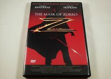 The Mask of Zorro DVD Antonio Banderas, Anthony Hopkins, Catherine Zeta-Jones