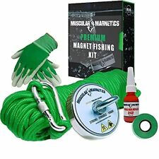 625lb Fishing Magnet Bundle Pack Includes 6mm 100ft High Strength Nylon Rope W