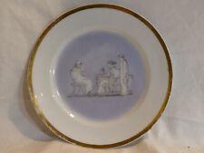 Assiette en porcelaine décor grisaille grece antique dorure or XIXe 19eme   N°3
