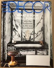 New ELLE DECOR Magazine December 2017 RALPH LAUREN'S GARAGE / ITALIAN VILLA