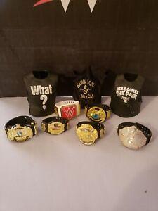 WWE Elite Accessories Championship Title Belt Lot