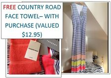 Country Road ❤ Trenery (FREE Face Towel) Striped Dress M RRP $149