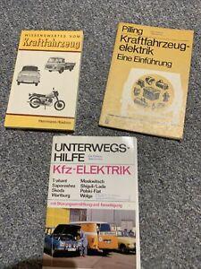 3 Mal DDR Bücher Fahrzeugelektrik Siehe Fotos