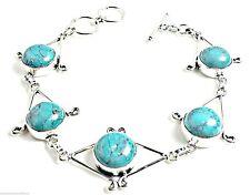 Handmade Turquoise Silver Plated Fine Bracelets