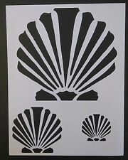 "Scallop Beach Seashell Sea Shells Multiple 8.5"" x 11"" Stencil FREE SHIPPING"