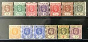 LEEWARD ISLANDS Sc#61-66//68-74 1921-29 KG V Mint Mostly VLH/Some NH OG VF 12155