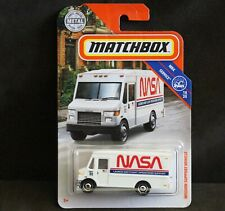 Diecast Matchbox Car 1:64, NASA Mission Support Vehicle, White Transport Van