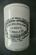 LARGE KEILLER DUNDEE MARMALADE POT (Y UNDER BOW IN TRANSFER)
