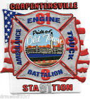 "Carpentersville  Station-91, IL ""Pride-Old Town"" (4.5"" x 4.5"") fire patch"