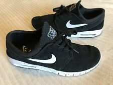 Mens  Nike SB Stefan Janoski Max Leather Trainers In Black Uk 9