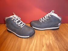 *35* SUPERB TIMBERLAND BLUE SILVER LEATHER ANKLE BOOTS  EU 37 UK 4
